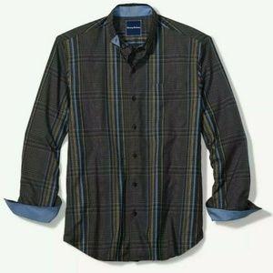 Tommy Bahama Stretch Mens Plaid Shirt L/S $145 NEW